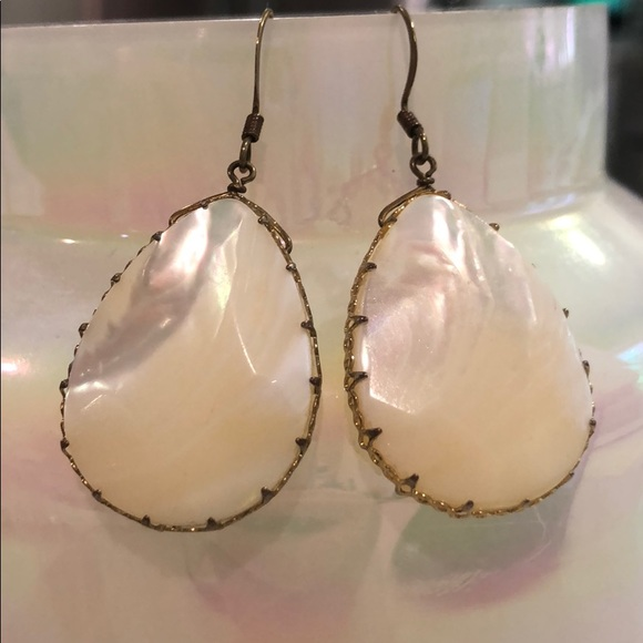 Francesca's Collections Jewelry - Francesca's Pear Drop Earrings - Mother of Pearl